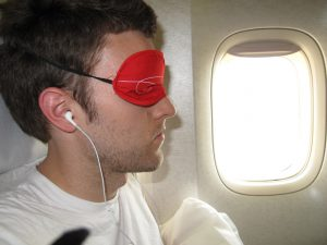sleep mask during flight