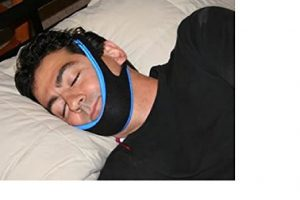 man in my snoring solution jaw supporter