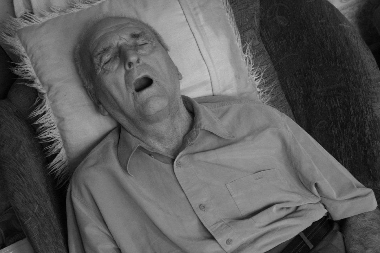 old man snoring